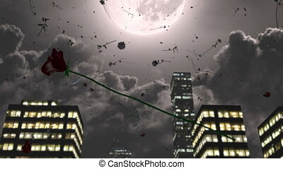 Roses fall from the sky
