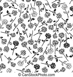 Roses floral seamless pattern background