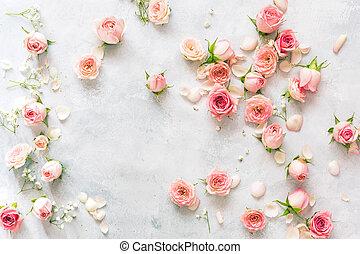 Roses flower background