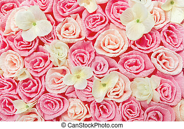 roses flower pattern background. Floral pink texture.
