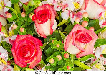 Roses Flowers Arrangement
