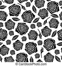 Roses flowers pattern seamless