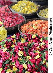 Roses for Sale at Indian Flower Market