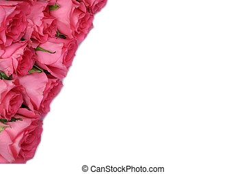 Roses gift on mother's or Valentine's day with copyspace