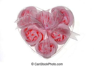 Roses in heart
