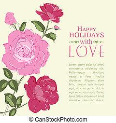 roses., invitación