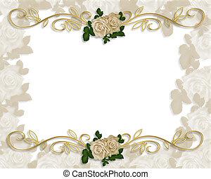 roses, invitation mariage