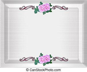 Roses invitation Satin