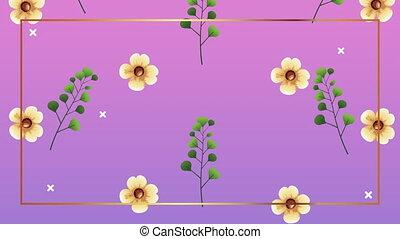 roses, jaune, beau, modèle, décoration, floral