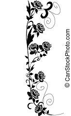 roses, noir