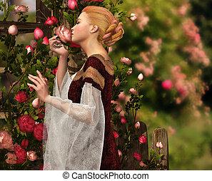roses, odeur