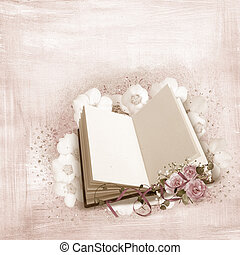 roses on book