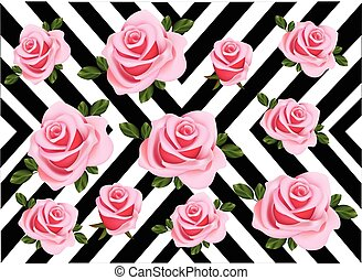 Roses pattern abstract background Vector illustration
