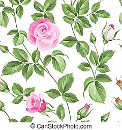 Roses pattern. - Flower background of red fashion rose for...