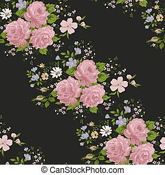 Roses patterns. Floral ,seamless pattern