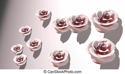 roses, porcelaine