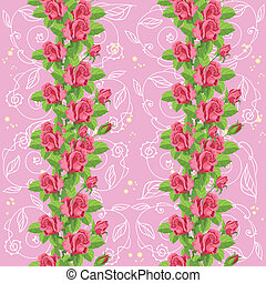 roses roses, doux, seamless