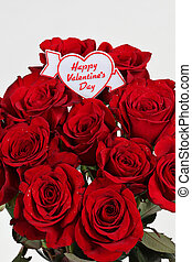 roses, saint-valentin, heureux