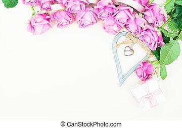 roses, saint-valentin, violet