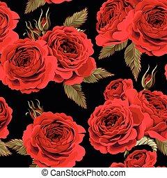 roses, seamless, anglaise