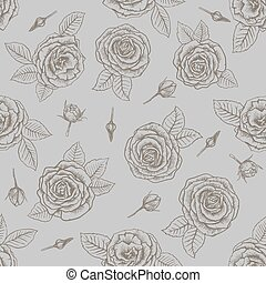 roses. seamless background