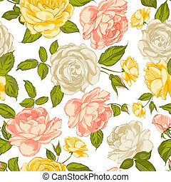 Roses seamless background.