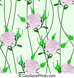 roses., seamless, fondo, fiore