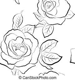Roses seamless wallpaper