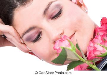 roses, sentir