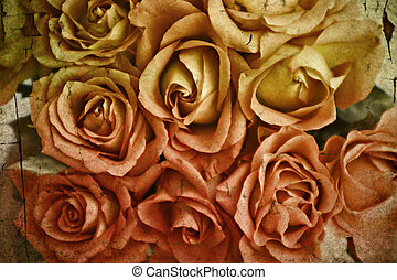 Roses with a grunge texture