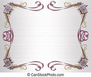 Roses Template Lavender - Border design element for...