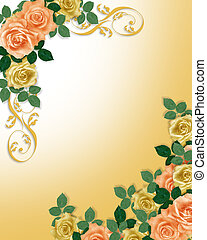 Roses Template Wedding Invitation - Image and illustration...