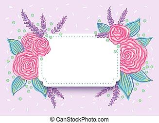 roses., uitnodiging, trouwfeest