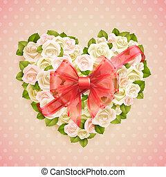 roses, valentineçs jour, carte