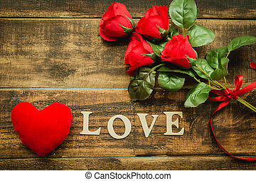 roses,  valentine´s, jour, rouges