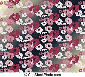 Roses Vintage seamless pattern background.