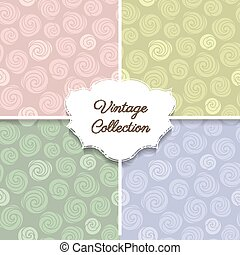 Roses vintage seamless pattern collection