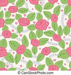Roses vintage seamless pattern