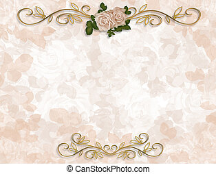 Roses Wedding Invitation - Image and illustration...