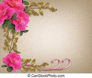 Roses Wedding or Party Invitation B