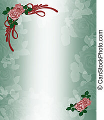 Roses Wedding or Party Invitation