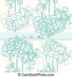 roses.eps, 結婚式, 背景, 招待, ∥あるいは∥, カード