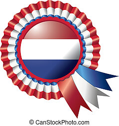 Rosette flag - Detailed rosette flag Netherlands, eps10...