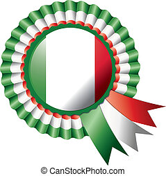 Rosette flag - Detailed rosette flag of Italy, eps10 vector...