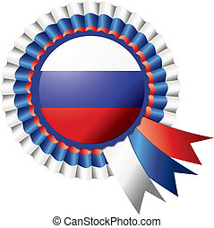 Rosette flag - Detailed rosette flag of Russia, eps10 vector...