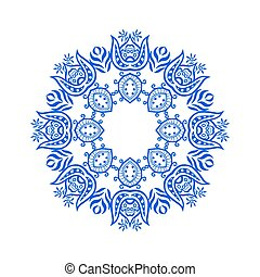 ornament - Rosette ornament. Isolated on white. Vector...