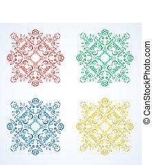 rosette pattern of flowers. vector
