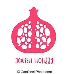 Greeting card for jewish new year rosh hashana with traditional rosh hashana jewish new year greeting card m4hsunfo