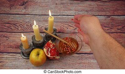 Rosh Hashanah celebration. Jewish New Year Holiday. Rosh...