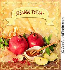 rosh hashanah, feriado, felicitación